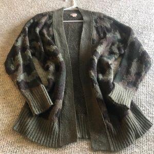 Camo knit cardigan